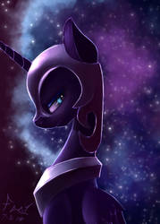 Nightmare Moon Speedpaint by FoughtDragon01
