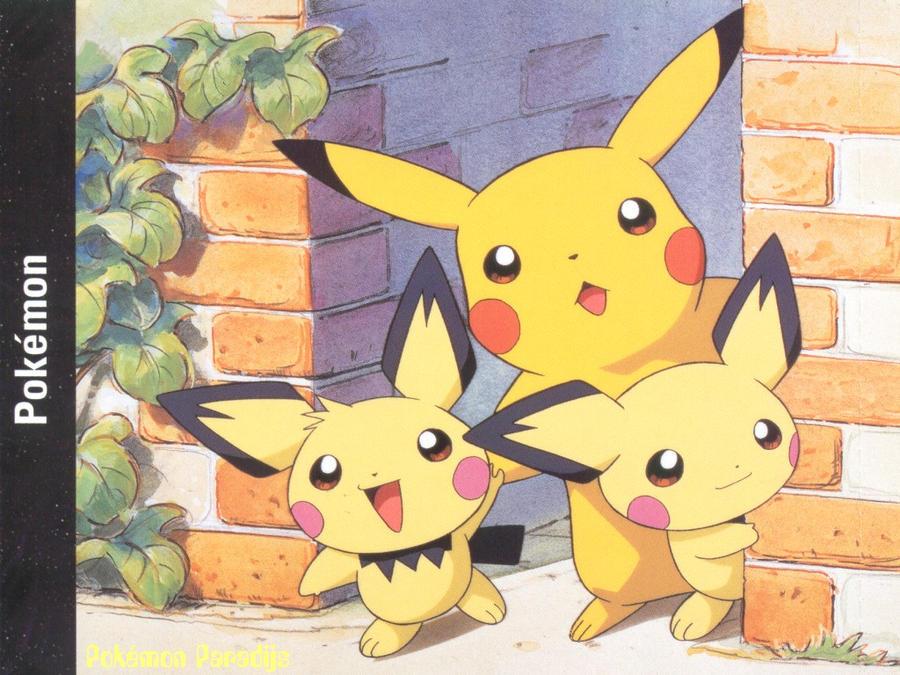 Pikachu and Pichu by pikatheking025