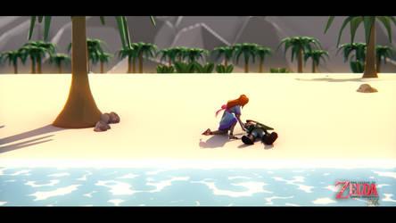Zelda DX : Beach by MaximeVillemard