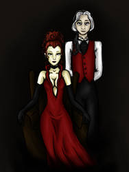 The Lady and her Manservant by Kranna