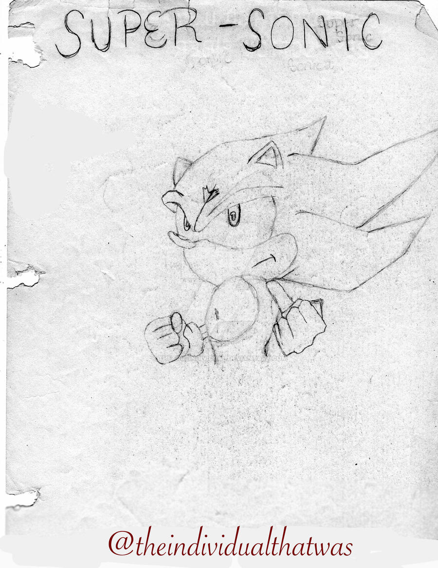 Super Sonic Sonic The Hedgehog By Thetrueindividual On Deviantart