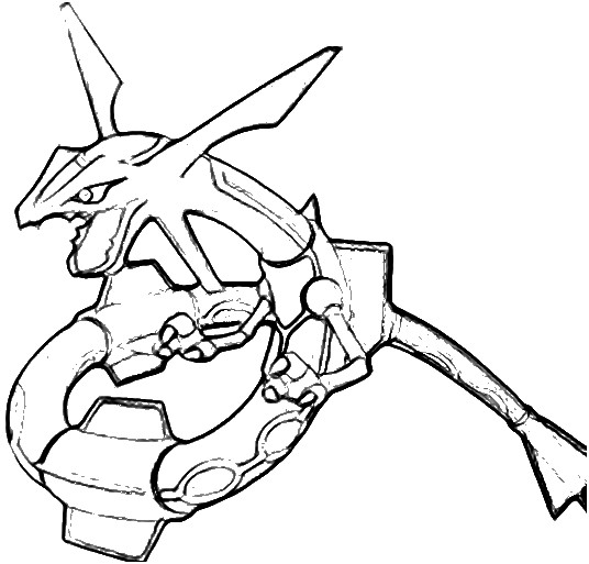 Rayquaza by elementalzx2 on deviantart for Rayquaza coloring pages