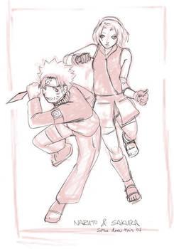Shippuuden: Naruto and Sakura