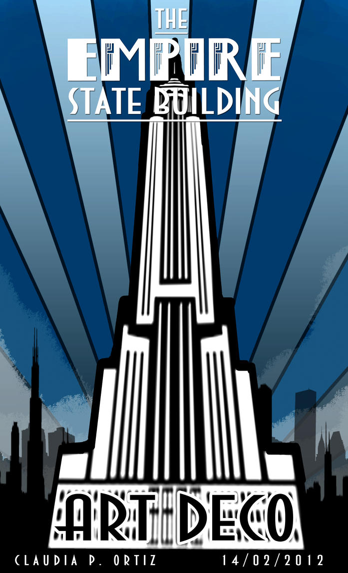 Empire state art deco by xayaletx on deviantart for What is art deco