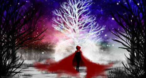 Red and the Pale Tree by xAyaletx