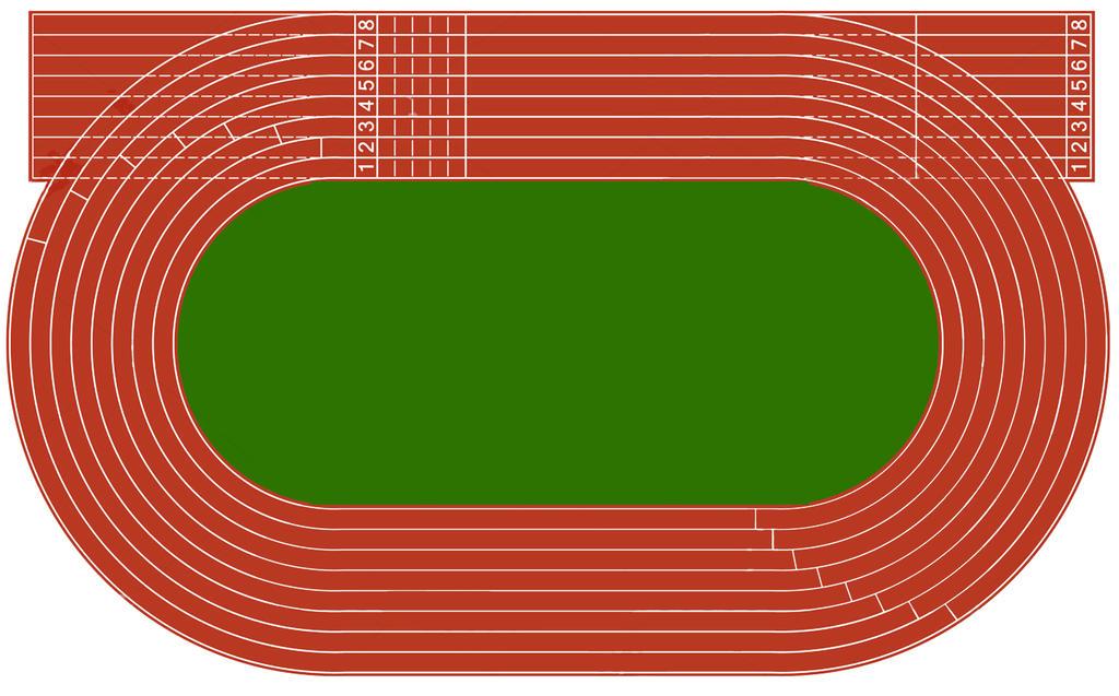Olympics Telecasts  |Running Track Birds Eye View