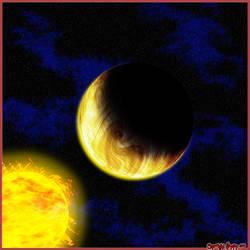 Solar system faaar away