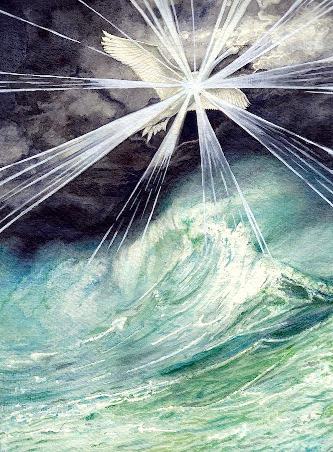 Elwing Bearing the Silmaril by peet