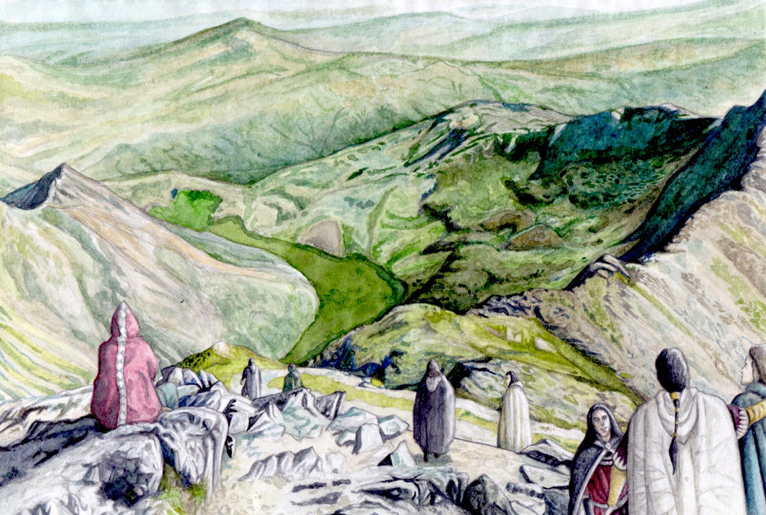 East-view from Ered Luin by peet