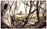 Boromir and Frodo on Amon Hen