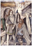 Legolas and Gimli in Minas Tirith