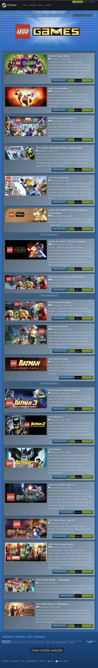STEAM 2019 LEGO Games Spring Sale by 6500nya