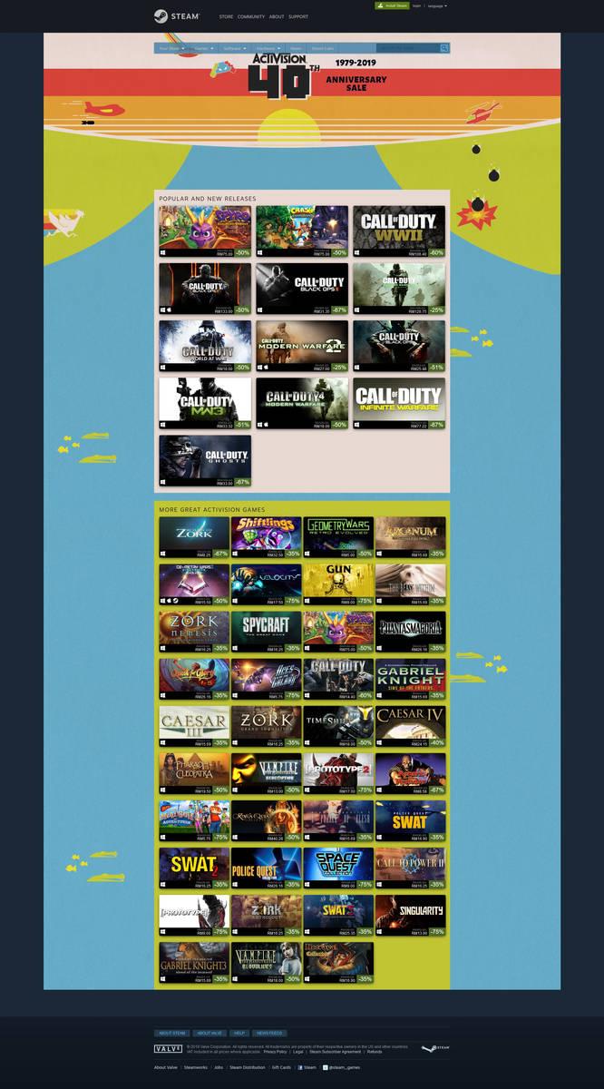STEAM 2019 Activision 40th Anniversary Sale