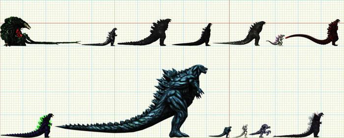 XNALARA Godzilla Family
