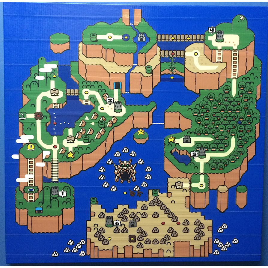 Super Mario world map in tape by mojodawg66 on DeviantArt