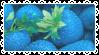 Blue Strawberry Stamp by K3NNA