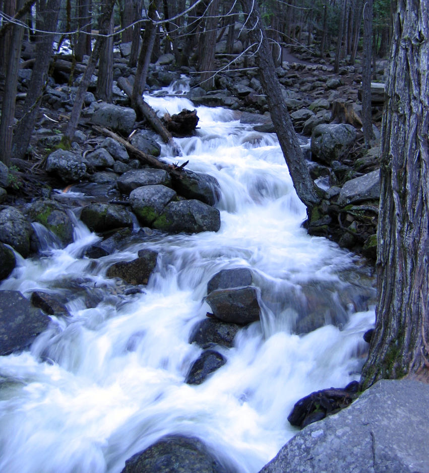 Bridalveil  river by GemSterling