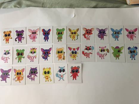 Letter Critters Trading Cards