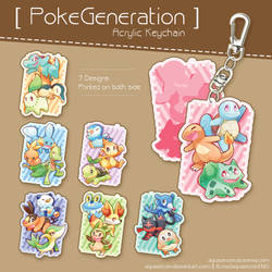 PokeGeneration Acrylic Keychain by AquaZircon