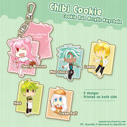 Chibi Cookie Run Acrylic Keychain by AquaZircon