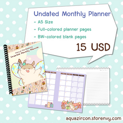 [Planner] Gonnyo Undated Monthly Planner by AquaZircon