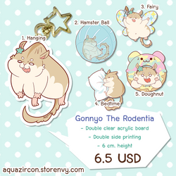 [Keychain] Gonnyo The Rodentia #1 by AquaZircon