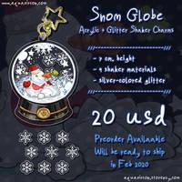 Snom Globe Acrylic Shaker Glitter Charms