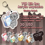 YCH Commission Milk Box Acrylic Keychains