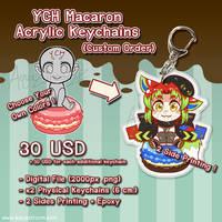 YCH Commission Macaron Custom Acrylic Keychains