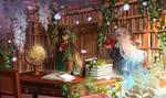 Magic Library by AquaZircon