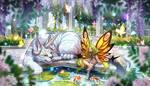 Pond and Fairy by AquaZircon
