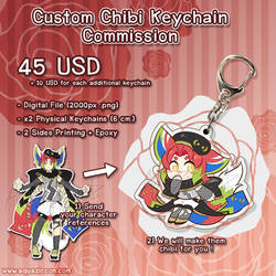 Custom Chibi Keychain Commission