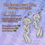 YCH Earbud Cord Wrap Custom Keychains