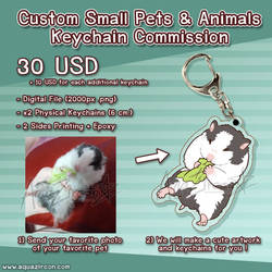 Custom Small Pets and Animals Keychain Commission