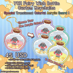 YCH Chibi Fairy Wish Bottle Custom Keychain