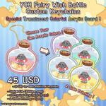 YCH Chibi Fairy Wish Bottle Custom Keychain