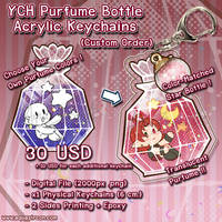 YCH Commission Purfume Bottle Acrylic Keychains