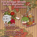 YCH Holidays Wreath Acrylic Keychains