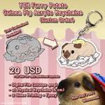 YCH Furry Potato Guinea Pig Acrylic Keychains