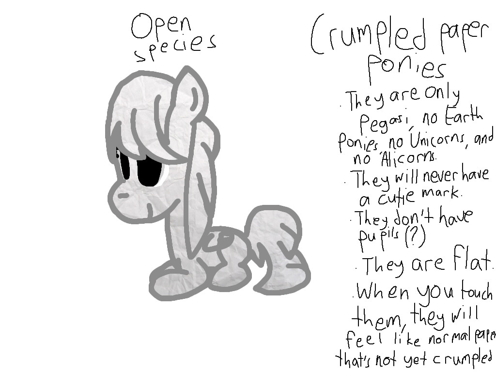 New species: Crumpled paper ponies by Trashykaya