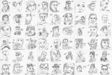 Birthday Sketches by pyros