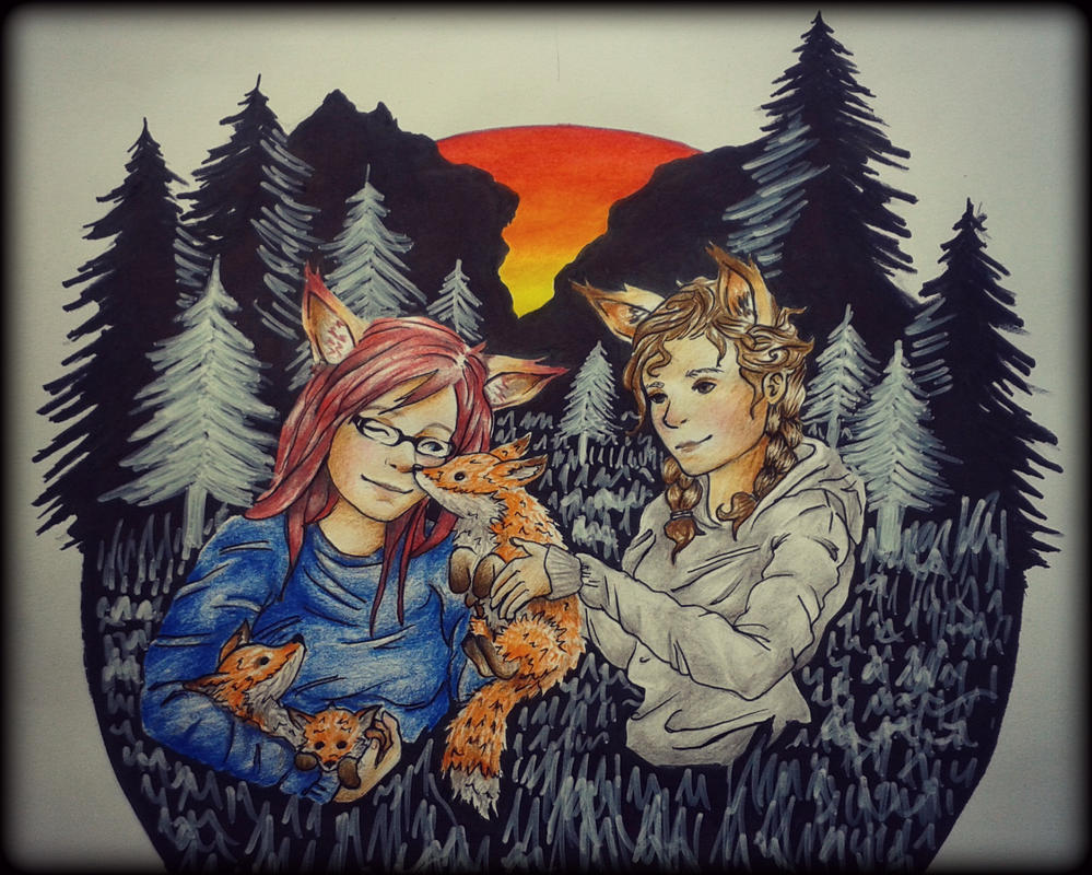ArtWork-71 - Foxy ladies! by Zene0000