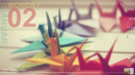 Origami Cranes by IMLYING2U