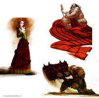 Pathfinder Character Lineup by Concept-Art-House