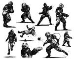 Astronaut Thumbnails for Action Poses