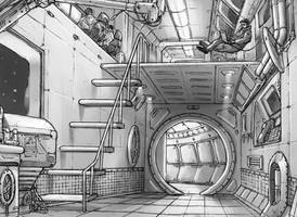 In the Spaceship by Concept-Art-House