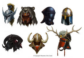 Helms of the Ancient World by Concept-Art-House