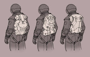 Spacesuit Backpack Concept by Concept-Art-House