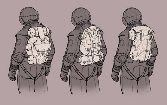 Spacesuit Backpack Concept