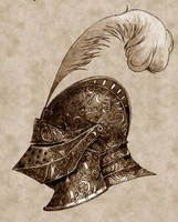 Medieval Knight's Helm by Concept-Art-House